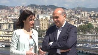 Andrea Levy amb el ministre de l'Interior en funcions, Jorge Fernández Díaz