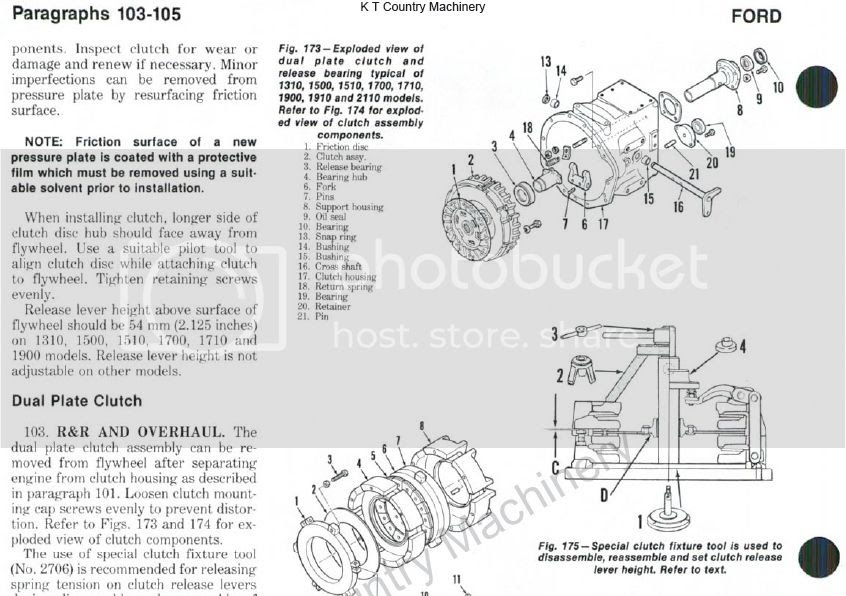 31 Ford 1700 Tractor Parts Diagram
