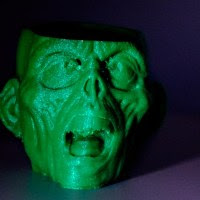 Creepy prints for halloween: Zombie Cup of doom
