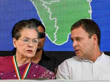 File image of Rahul Gandhi and Sonia Gandhi. PTI