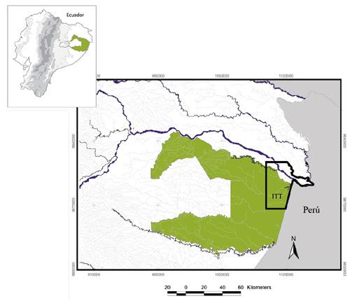 Map of Yasuní