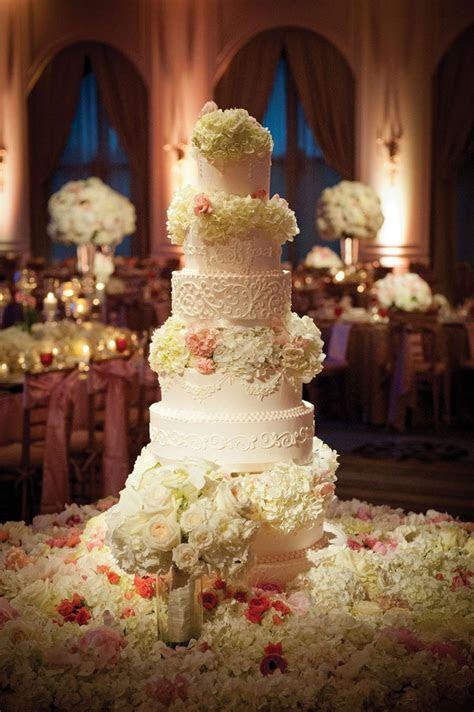 Gorgeous Wedding Cake: Eight Tier With Fresh Flowers