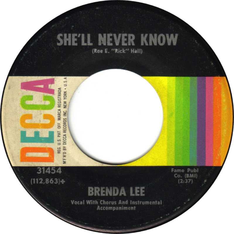 45cat - Brenda Lee - Your Used To Be / She'll Never Know ...