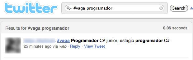 Um exemplo de busca por vaga para programador (Foto: Reprodução/Pedro Villalobos)