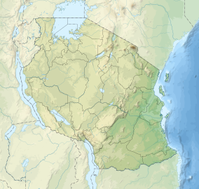 Map showing the location of Ruaha National Park