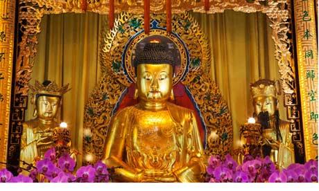Interior of Po Lin Monastery, Hong Kong
