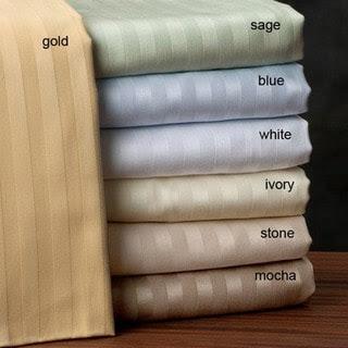 Egyptian Cotton Stripe 600 Thread Count Sheet Set | Overstock.com