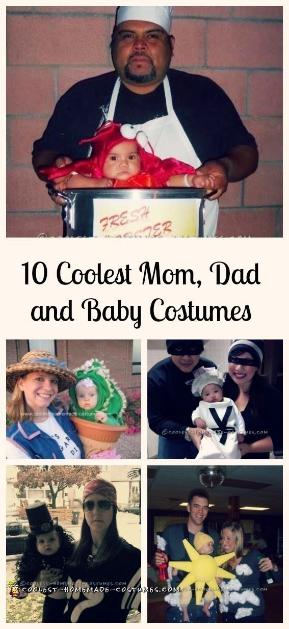 Top 10 Diy Mom Dad And Baby Costume Ideas For Halloween