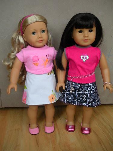 Reversible Doll Wrap Skirts