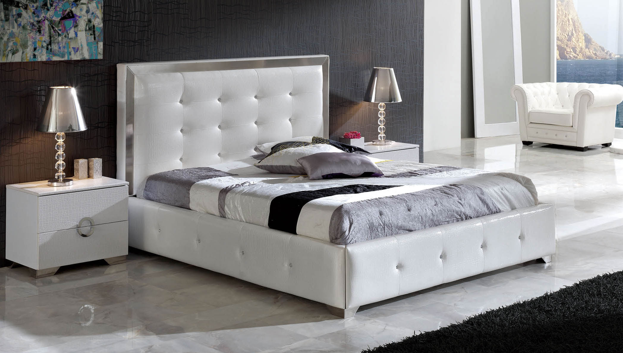Made in Spain Leather Elite Platform Bed with Extra Storage Savannah Georgia ESFCOCO