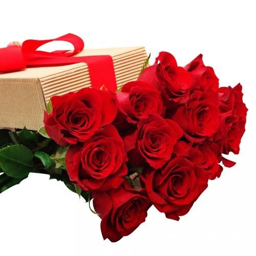 6 Rosas Rojas En Un Bonita Caja