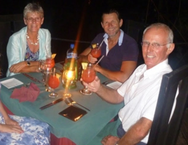 Victims: Roger Pratt, right, was shot dead on his yacht in St Lucia, as he defended his wife Margaret, left, against a gang of robbers