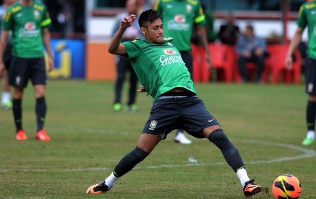 Neymar Treino Seleção Brasileira Brasil (Foto: André Durão)