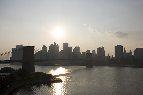 East River silhouette, NYC
