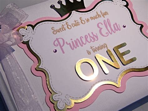 Pink & Gold 1st Birthday Guest Book