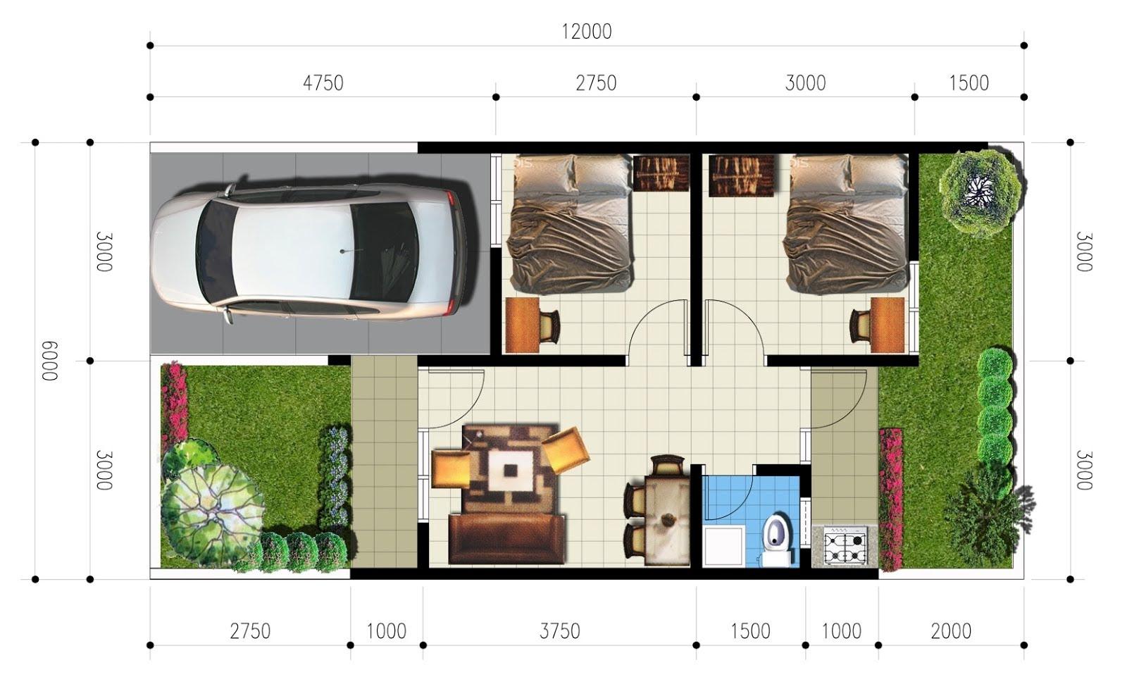 109 Desain Rumah Minimalis Sederhana Type 36/60 | Gambar ...