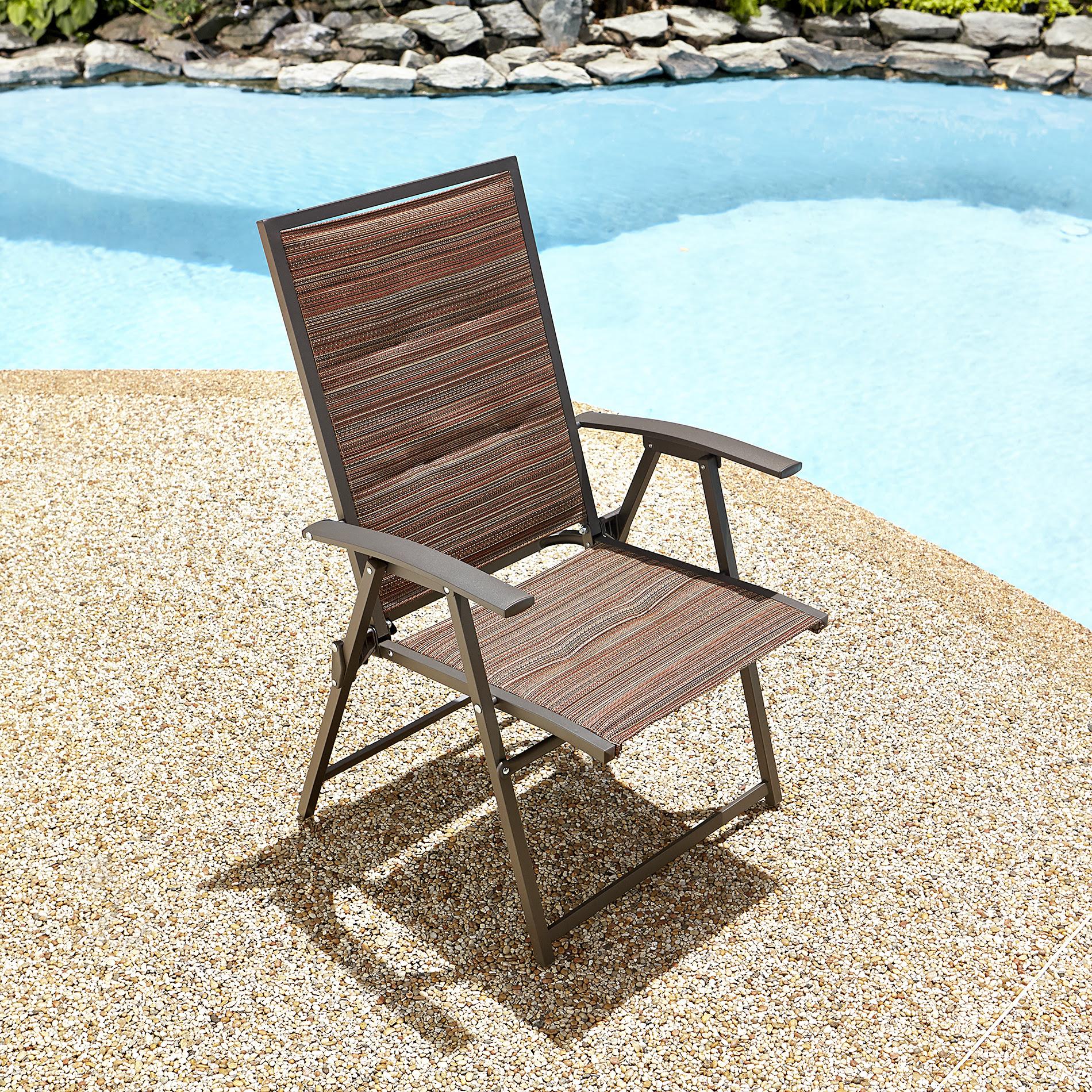 Garden Oasis Matching Folding Padded Sling Chair ...