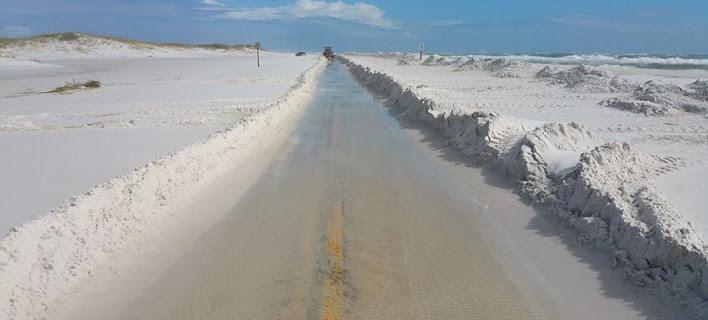 Στη Φλόριντα «χιόνισε» άμμο: Πρωτόγνωρο θέαμα [εικόνες]