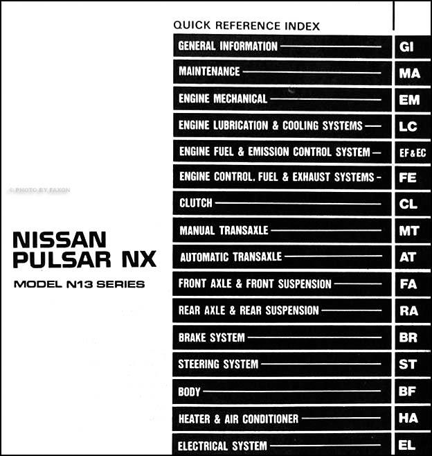 Diagram 199nissan Pulsar Nx Wiring Diagram Manual Original Full Version Hd Quality Manual Original Diagramryanb Aziende24h It