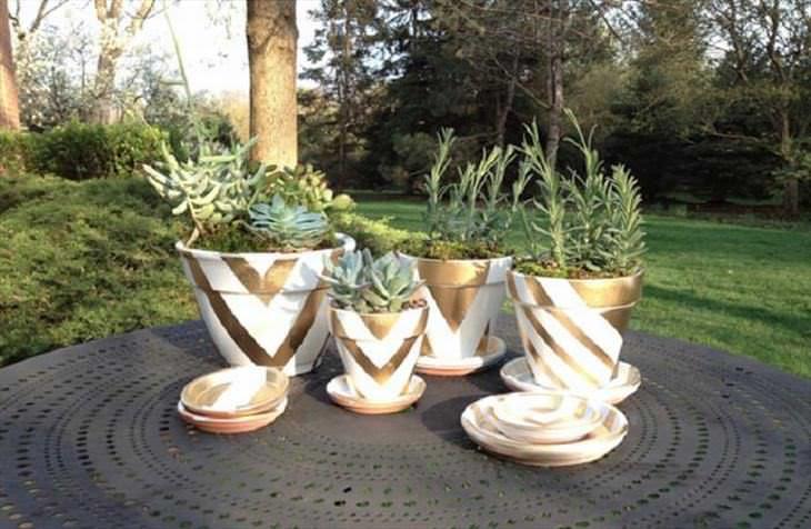 artesanato de vasos decorados