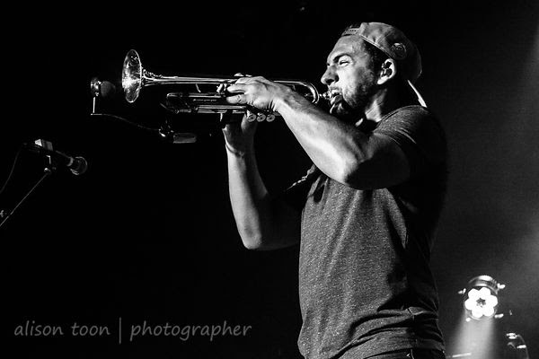 Khris Royal, sax, and.Zach Meyerowitz, trumpet, Rebelution