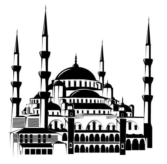 Download 78  Gambar Animasi Masjid Hitam Putih HD Free Downloads