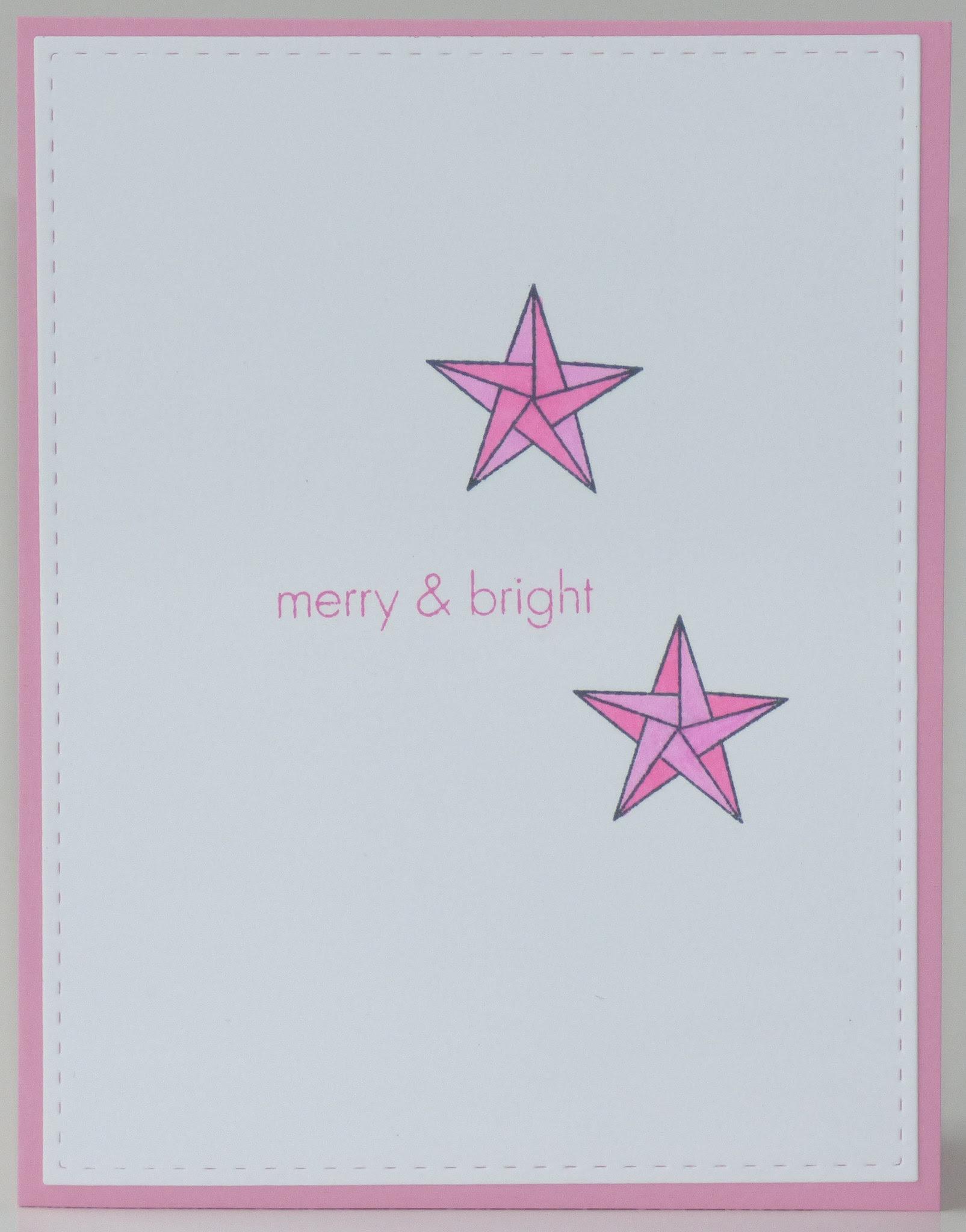 https://flic.kr/p/PBfZ31 | Pink Origami Stars | www.ablognamedhero.com/ Monochromatic  www.simonsaysstampblog.com/wednesdaychallenge/ Let's get ready for Christmas  catchthebugblog.blogspot.com/ #616 - Sketch  papercraft-challenges.blogspot.com/ #21 - Stars  jinglebellesrock.blogspot.com/ Pink Christmas  Stitched Die : SimonSaysStamp All Stamps : Hero Arts