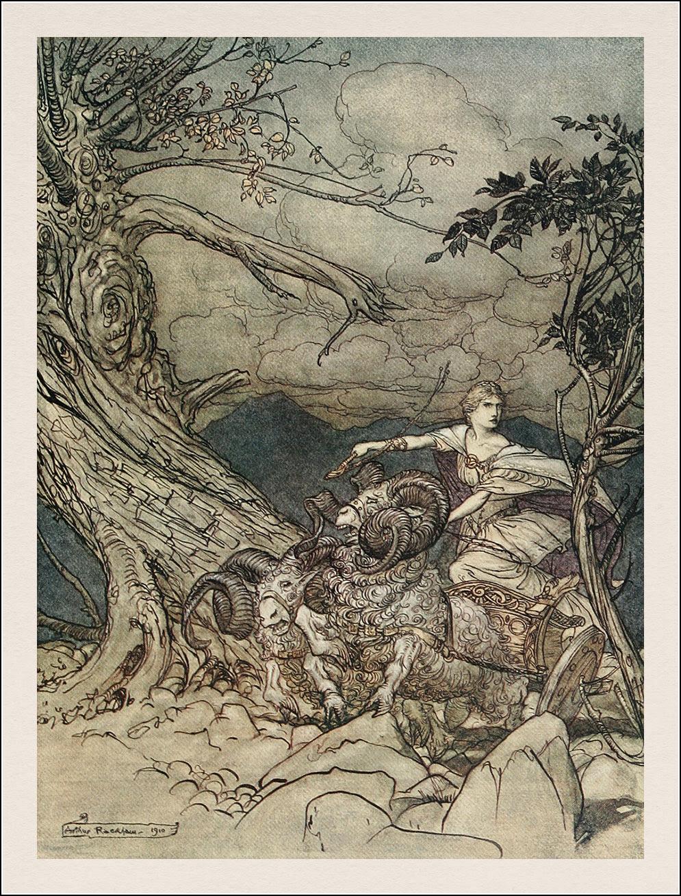 Arthur Rackham. The Rhinegold & the Valkyrie