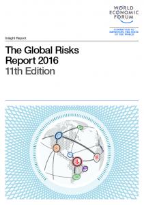 Portada del Informe sobre riesgos mundiales.