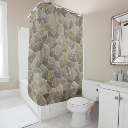 Medieval Stone Shower Curtain