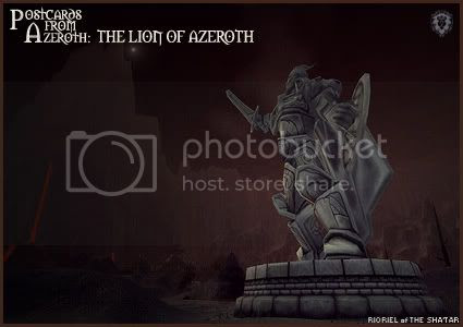 Postcards of Azeroth: Anduin Lothar - Lion of Azeroth, by Rioriel Ail'thera