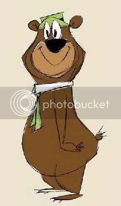 Sketch art Yogi Bear clipart image clip.