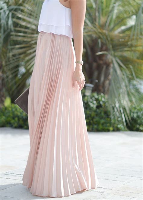 Pleated skirt for spring / maxi skirt / crop top / wedding