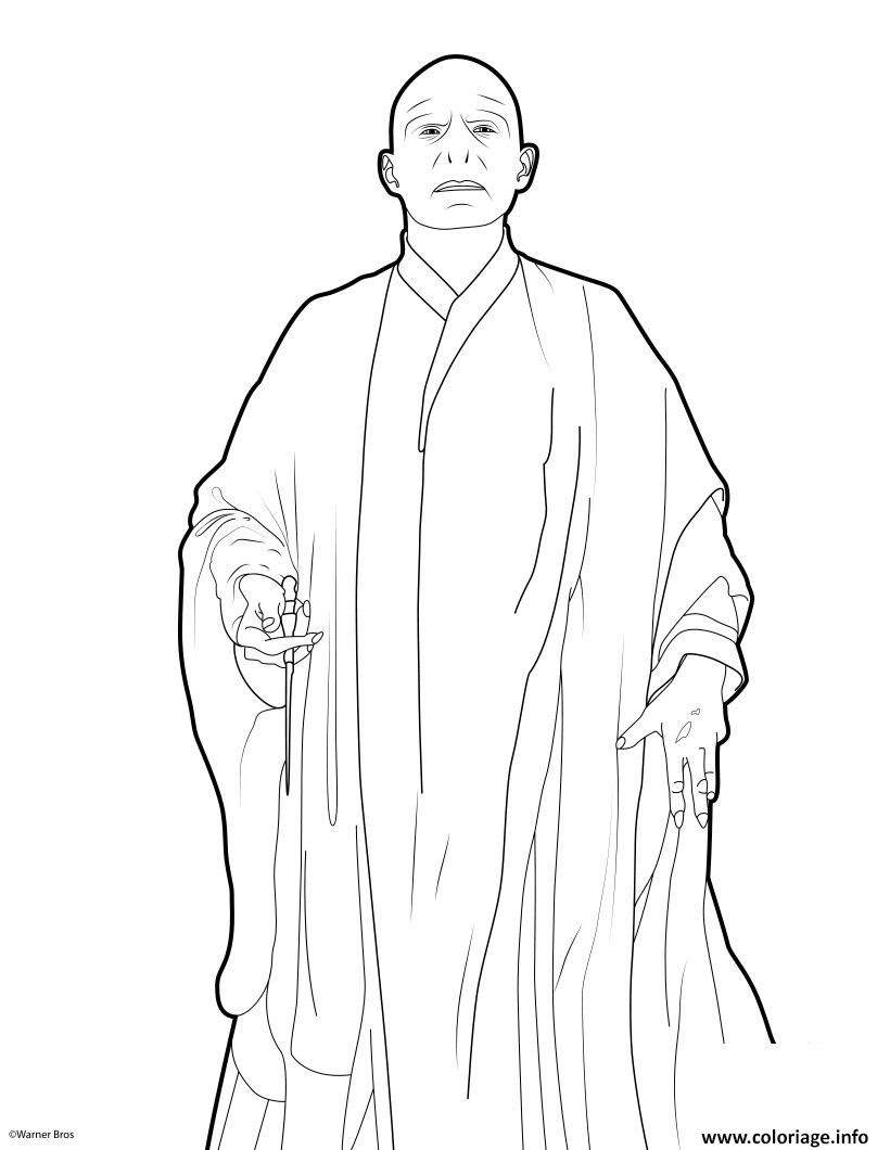 Coloriage harry potter 7 voldemort