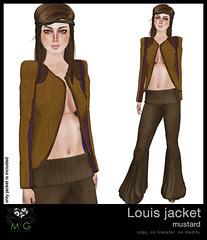 [MG fashion] Louis jacket (mustard)