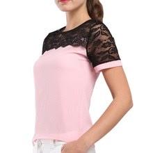 Buy BIBOYAMALL Women Blouses Summer Lace Chiffon Blouse 2017 Summer Blusa Feminina Tops Fashion Chemise Femme Shirts Plus Size 5XL