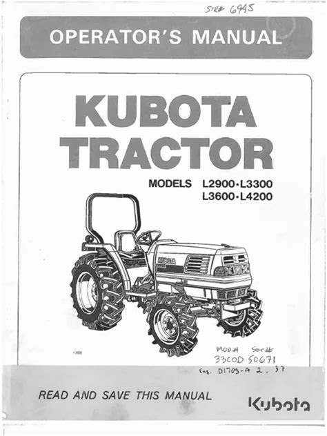 kubota L2900, L3300, L3600, L4200 owners manual.pdf