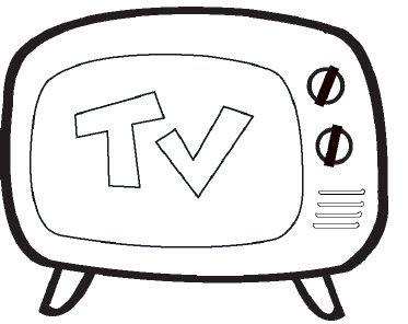 Son Televizyon Boyaması Yazdırılabilir Boyama Sayfaları