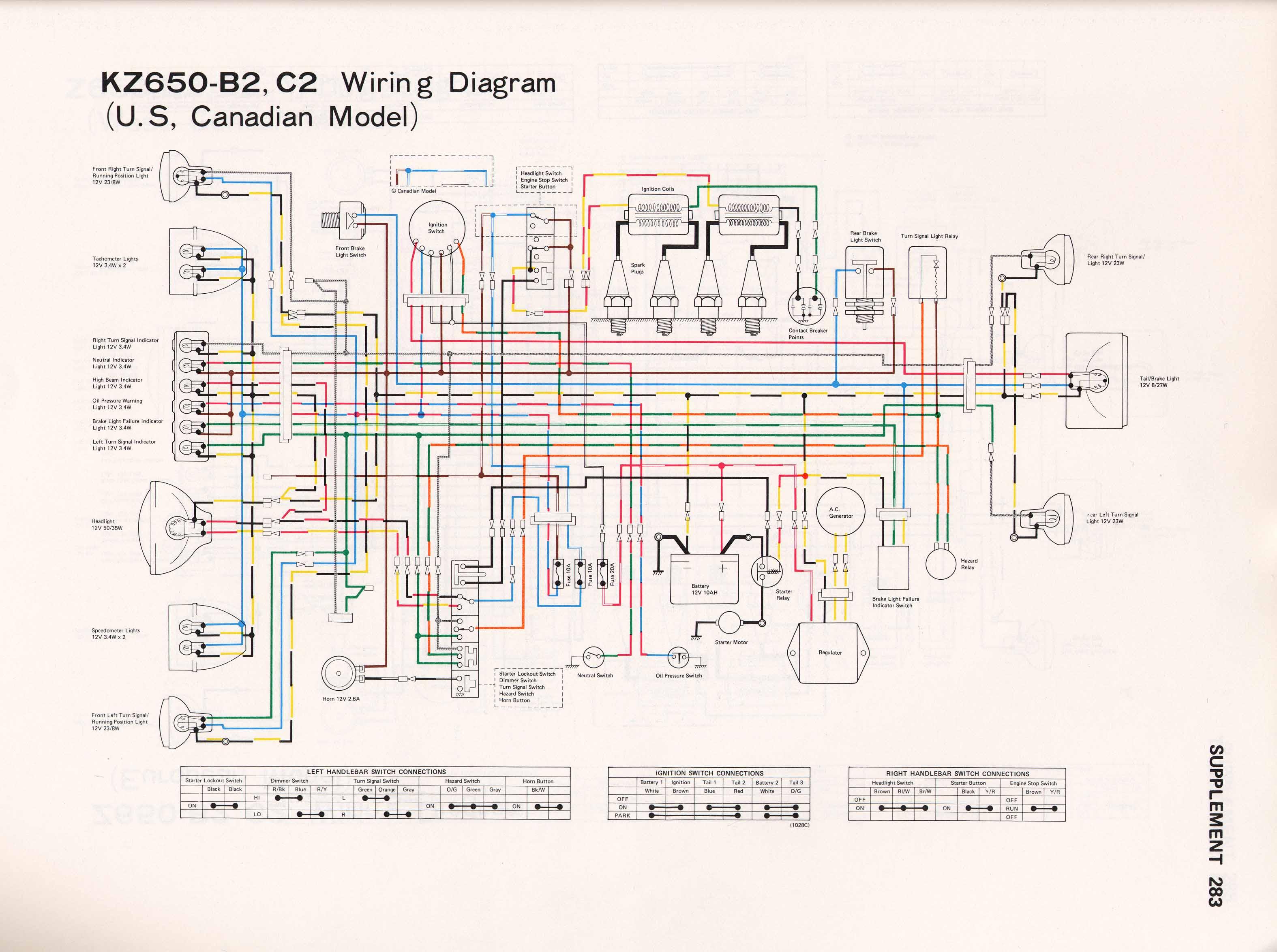 kz750 h1 wiring diagram image 3