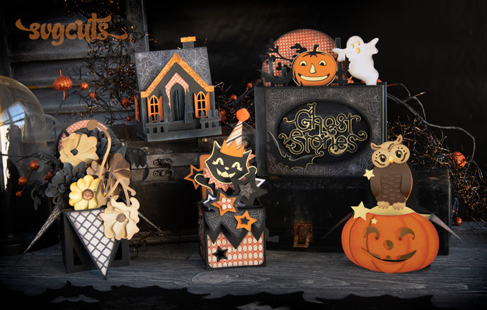 New Free Gift - Halloween Box Cards SVG Kit