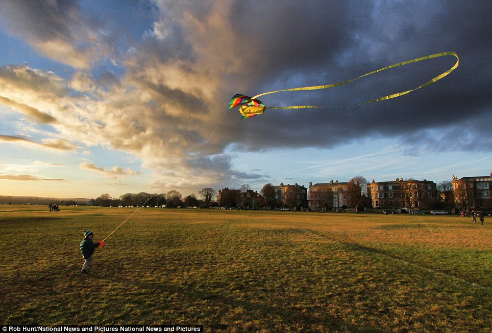 Stunning: Rob Hunt's Kite Flying on Clifton Downs in Bristol came in first place in the Beathing Spaces category