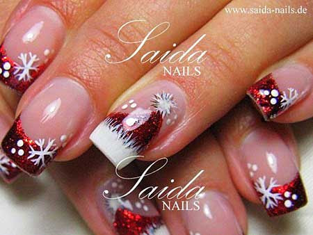 Christmas Nail Designs Red And White Nail Art Designs 2017