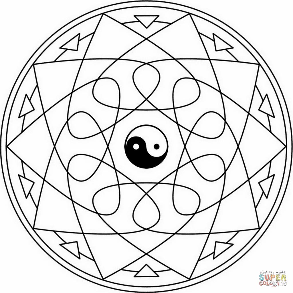 Frais Mandala Ying Yang Coloriage | 30000 ++ collections ...