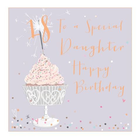 Belly Button Daughter 18th Birthday Card LXE09   HUGS & KISSES