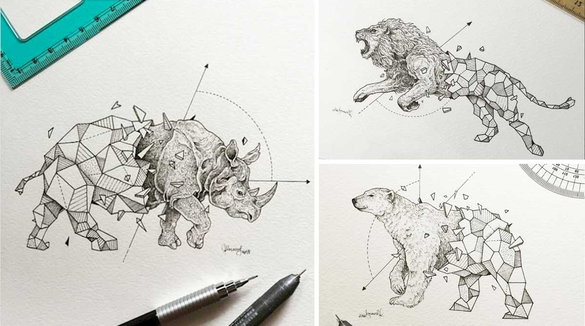 Artista Crea Increíbles Dibujos En Donde Fusiona Animales Salvajes