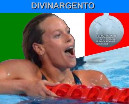 sport,mondiali nuoto barcellona,federica pellegrini,medaglia d'argento nei 200 mt s.l.,