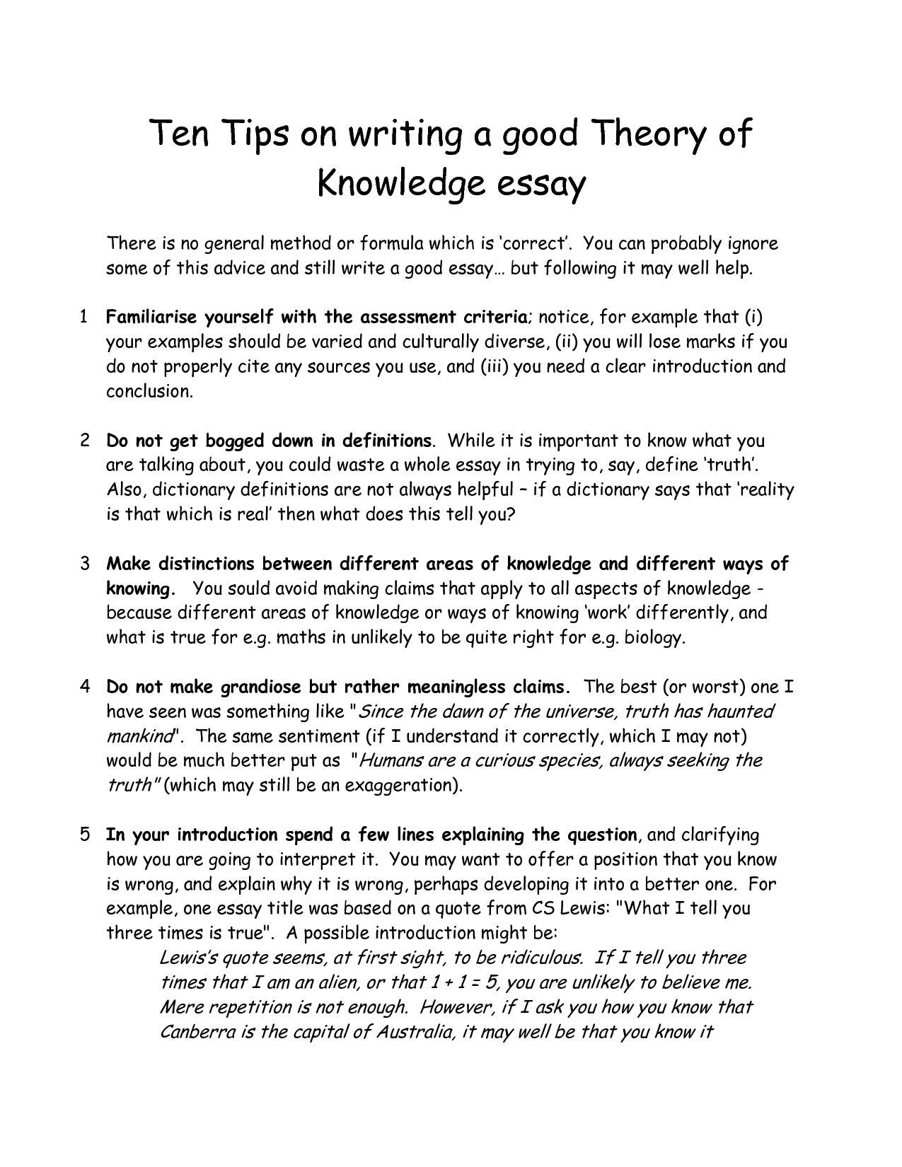 how to write an interesting essay about yourself