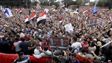 Thousands of Egyptians protest against the policies of President Mohamed Morsi. The offices of the Freedom and Justice Party were also attacked. by Pan-African News Wire File Photos