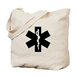 Star of Life  Tote Bag personalized for EMT's, paramedics and medical professionals.