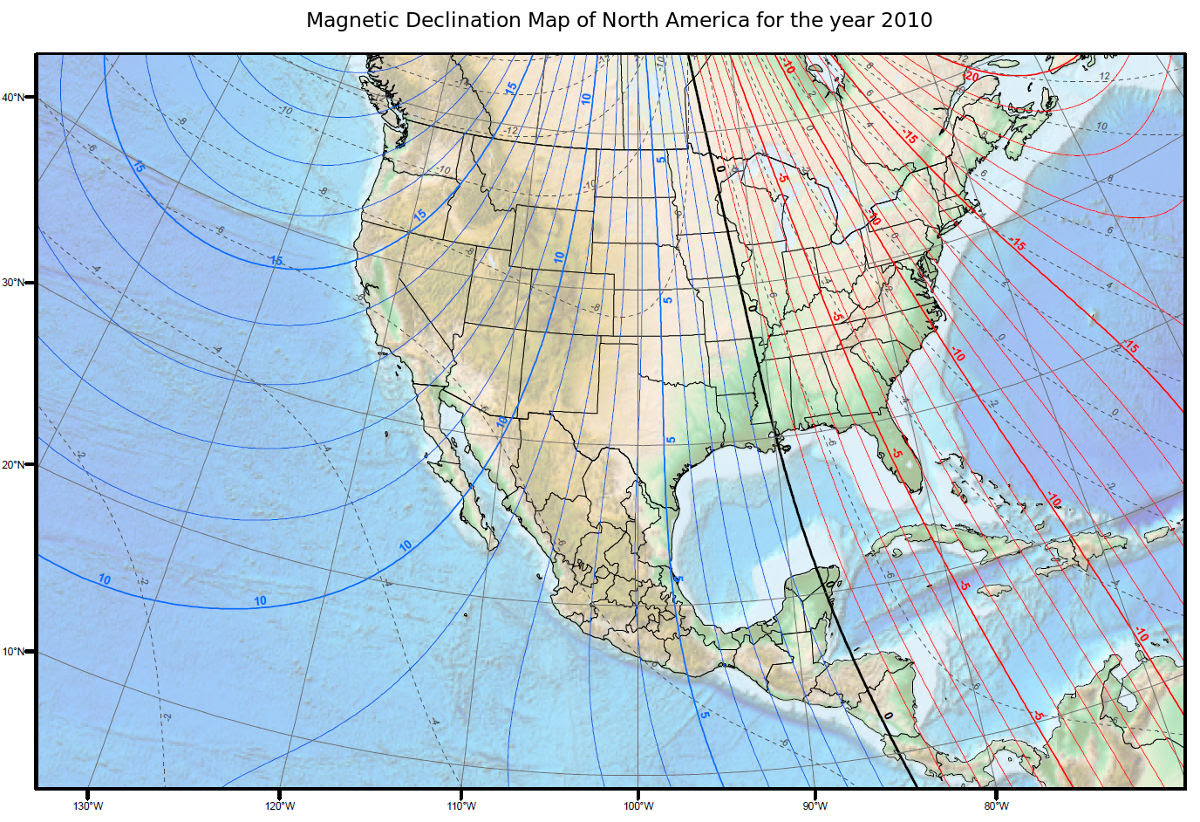 Magnetic Declination Map And Calculations Why Do They Vary